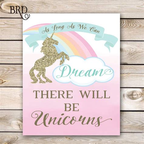printable unicorn signs unicorn party sign 8x10 instant download unicorn birthday