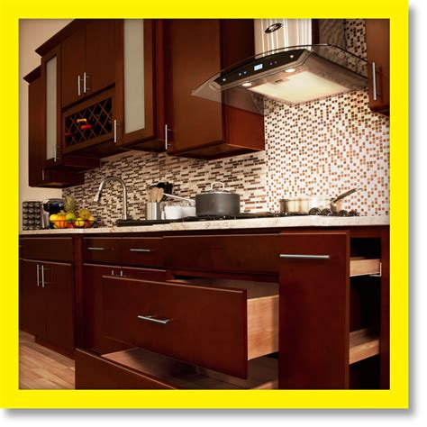 Kitchen Wood Cabinet All Solid Wood Kitchen Cabinets Villa Cherry 10x10 Rta Ebay