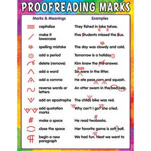 Free Proof Reader proofreading marks chart tcr7696 created resources