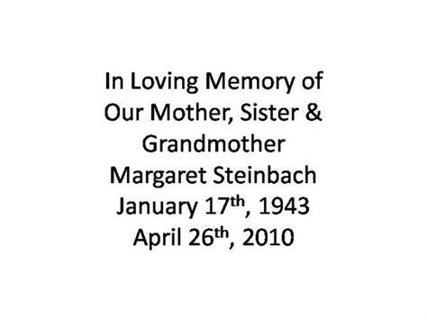 In Loving Memory Of Mom Authorstream In Loving Memory Powerpoint Template