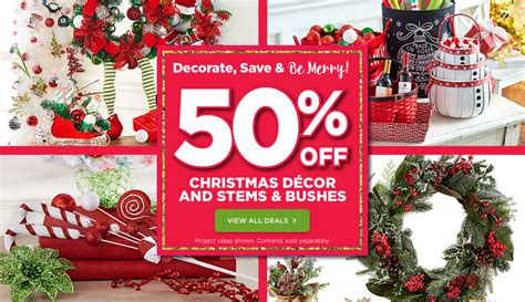 michaels canada deals 50 off christmas decor plus 50