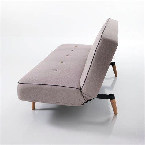 divano 180 cm divano letto kuniko a due posti in tessuto grigio 180 cm