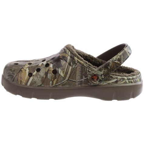 croc clogs for crocs dasher realtree max 5 174 lined clogs for and