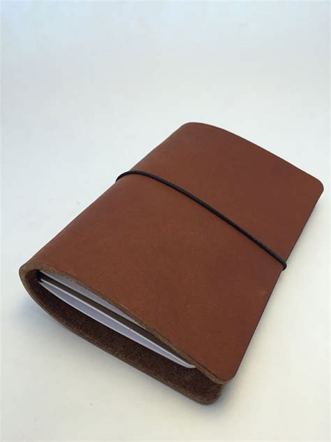 One Fifth Leather Travelers Notebook personal leather travelers notebook nutmeg color