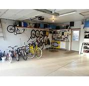 Simple Garage Storage Ideas Various Bicycles Sleek Floor