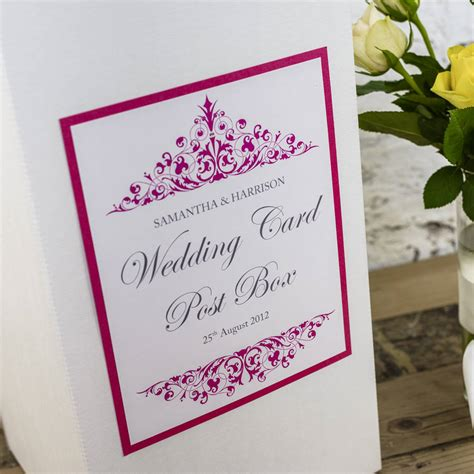 Wedding Box Poem by Personalised Wedding Post Box By Dreams To Reality