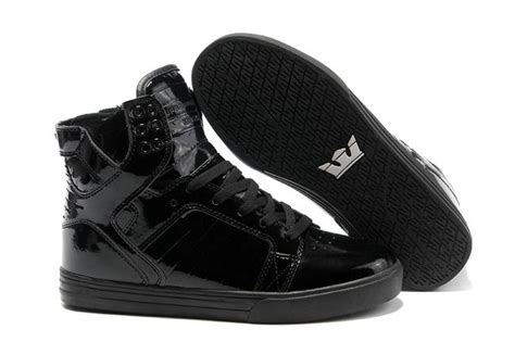 supra skytop high tops all black shoes a107 for