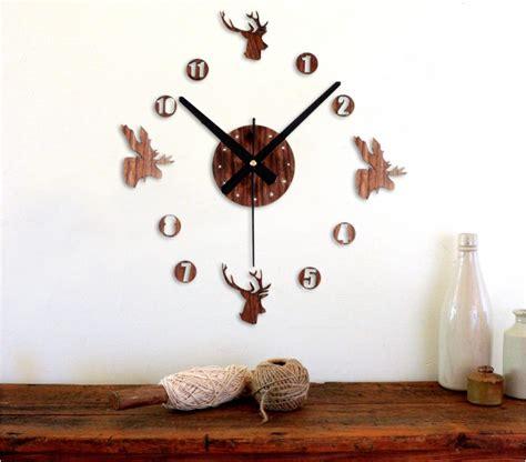 Jam Dinding Diy Angka Romawi 30 60 Cm jam dinding besar diy 30 60cm diameter elet00663 brown jakartanotebook