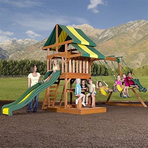 toddler backyard playsets backyard discovery independence all cedar wood playset