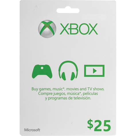 Where To Get Xbox Live Gift Cards - microsoft 25 xbox gift card xbox one 360 k4w 00001 b h