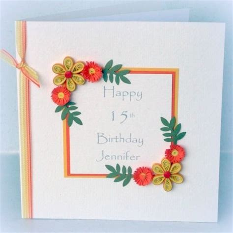 Handmade Paper Cards Ideas - quilled birthday card handmade paper quilling i