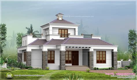 single floor home stair room kerala design building