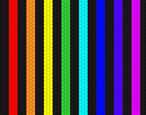 what pattern is the rainbow simple black and rainbow bead pattern peyote bead