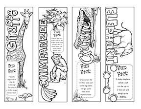 printable animal bookmarks to color 7 best images of animal printable bookmarks to color