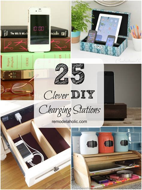 charging station diy remodelaholic get rid of cord clutter with these 25 diy