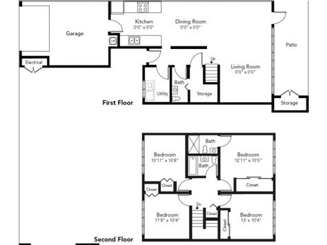Whidbey House Plans Nas Whidbey Island Saratoga Heights Neighborhood 4 Bedroom Townhome Floor Plan Nas Whidbey