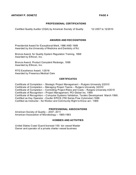 Resume Awards And Recognition Awards And Recognitions On A Resume