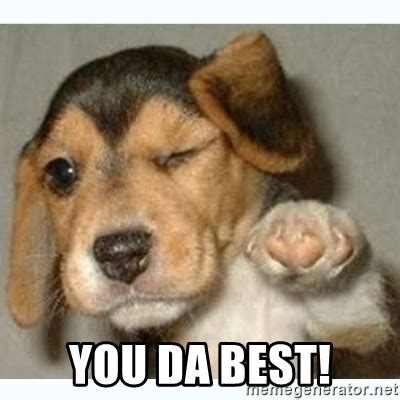 Da Best Memes - you da best fist bump puppy meme generator