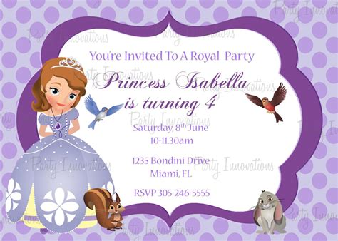sofia the invitation template what are princess invitations look like home