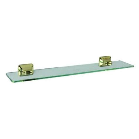 design house millbridge 20 in w wall mount glass shelf in