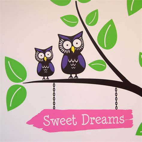 Owl Tree Wall Sticker tree with owls and butterflies wall stickers by parkins