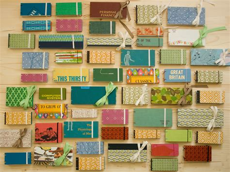 Handmade Materials - handmade bound books made out of recycled materials