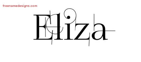 tattoo name eliza decorated name tattoo designs eliza free free name designs