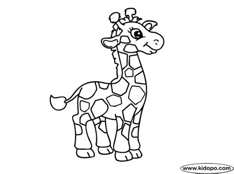 small giraffe coloring page