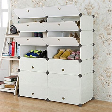 diy shoe storage cabinet unicoo multi use diy plastic 10 cube shoe rack