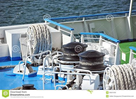 windlass mechanism boat anchor winch with chain stock photo image of equipment
