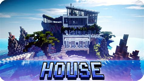 on the house minecraft modern house on the sea map with download youtube