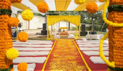 Home Decor Ideas For Indian Wedding genda phool marigold decorations for a traditional touch