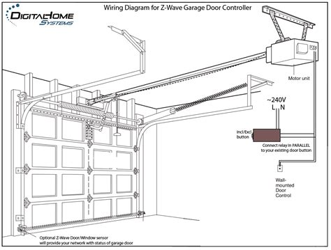 garage door controller wire diagrams easy simple detail