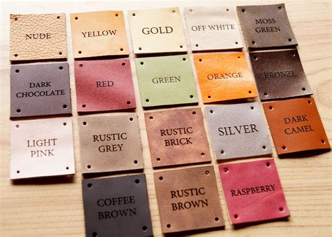 Care Labels For Handmade Items - leather clothing labels handmade custom labels