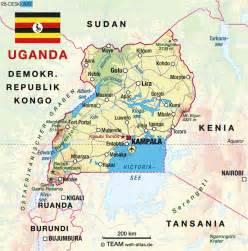 where is uganda on the world map map of uganda map in the atlas of the world world atlas