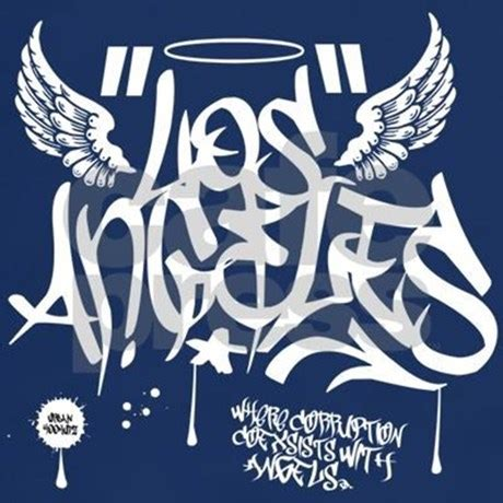 los angeles california graffiti shirt by urbanhookupz