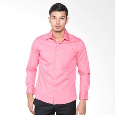 Vm Kemeja Polos Panjang Slimfit Pink Salem Shirt Jual Kemeja Pria Pink Harga Menarik Blibli