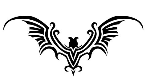 tribal bat tattoos bat design