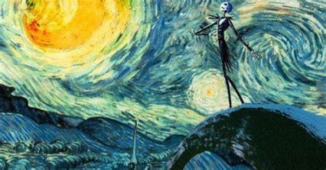 paint nite brton starry tim burton what a mix yeah things