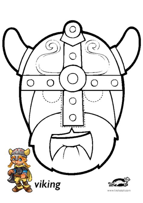 printable viking mask krokotak print printables for kids