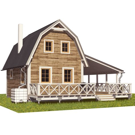 plans loft barn cabin home design ideas