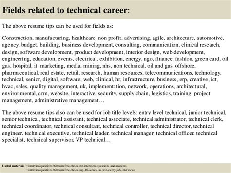 Technical Resume Tips by Top 12 Technical Resume Tips