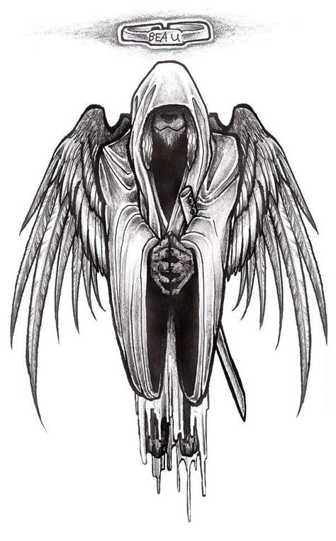 gothic angel tattoo designs drawings tattooic
