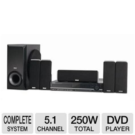 rca home theater system dvd player 250w rms dvd rw cd