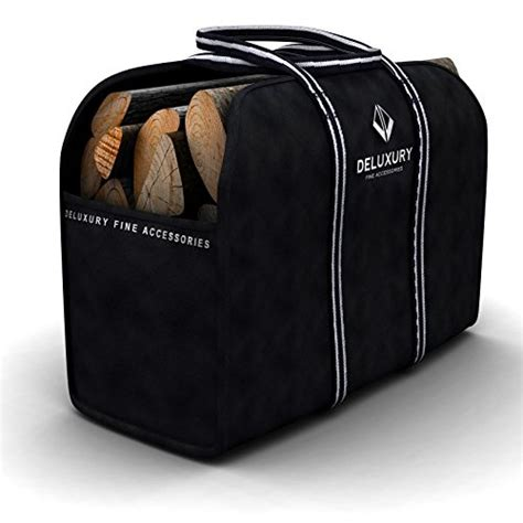 Fireplace Log Tote by Firewood Carrier Deluxury Fireplace Accessories Max