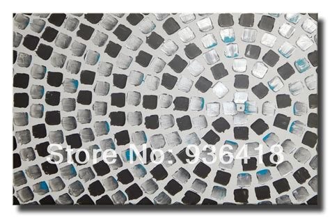 metallic acrylic paint on canvas silver turquoise wall deco squares abstract acrylic