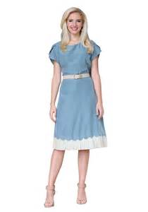 Dress in light blue shelly modest dress in light blue