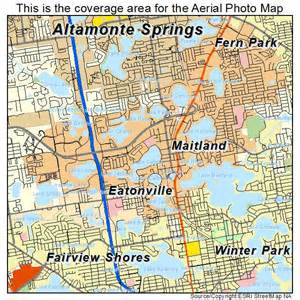 aerial photography map of maitland fl florida