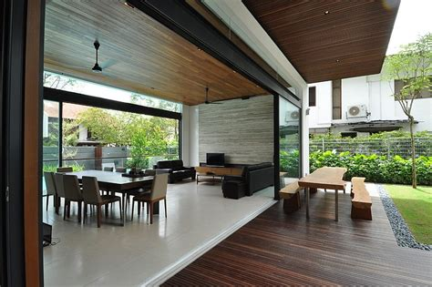 terraced house layout ideas stylish bungalow inspired residence in singapore sunset