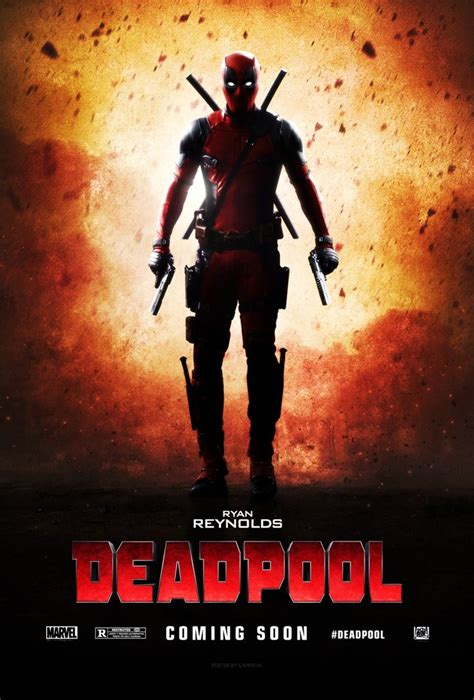 deadpool poster deadpool 2016 teaser poster by camw1n